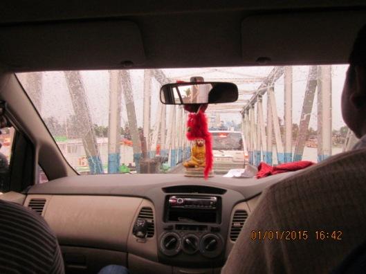 Crossing River On Vessel