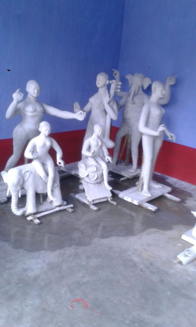 Idol Making At The Eve Of Durga Puja